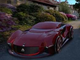 迈巴赫ECHO概念车渲染图 强大的科技感