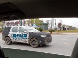 或命名为大指挥官 Jeep全新7座SUV谍照