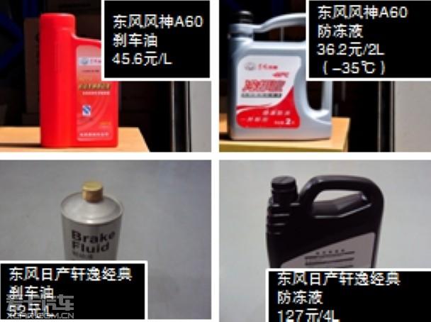 防冻液等配件价格轩逸经典