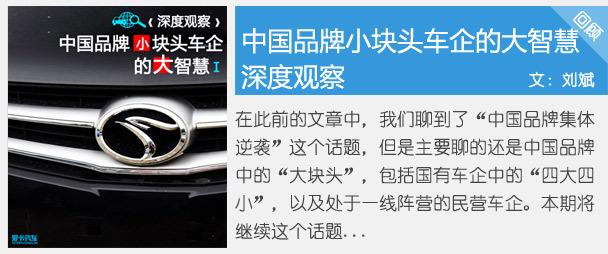 中国品牌小块头车企的大智慧